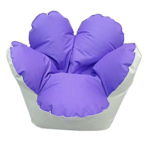 Кресло цветок бело-Фиолетовый