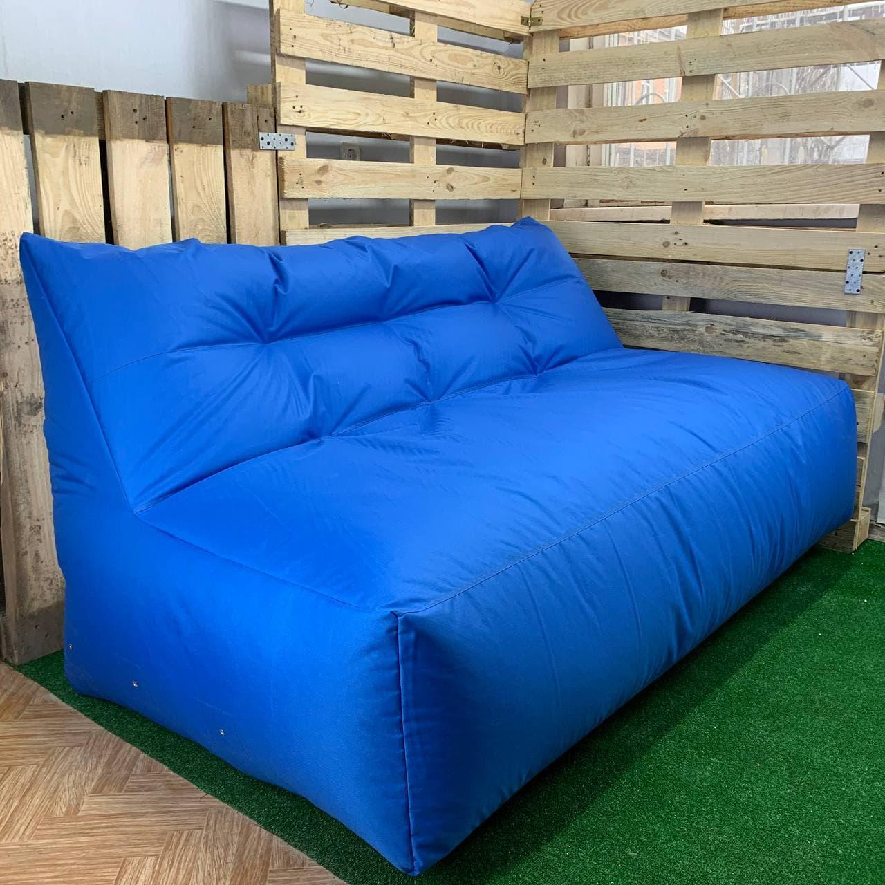 Безкаркасний диван синій