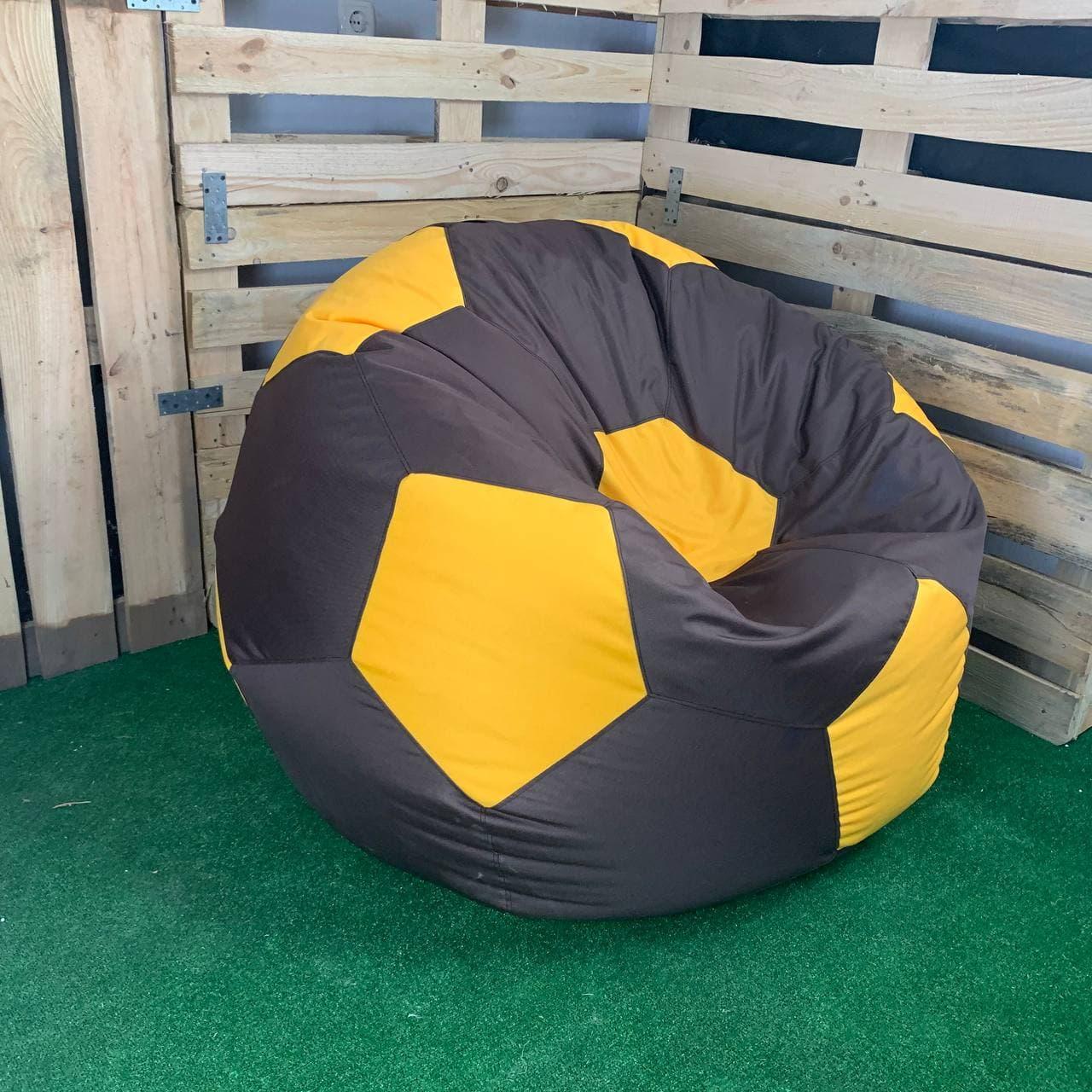 Крісло Мяч Оксфорд XL коричнево-желтый